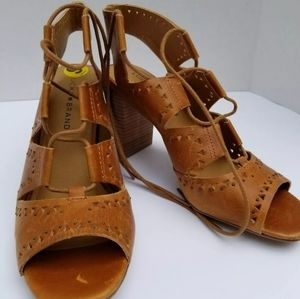 Lucky Brand Distressed Leather Sandals